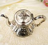 Посеребренный английский заварочный чайник, серебрение, мельхиор, GRAYSON & SON, Англия, фото 6