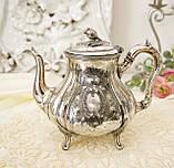 Посеребренный английский заварочный чайник, серебрение, мельхиор, GRAYSON & SON, Англия, фото 2