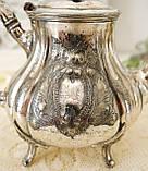 Посеребренный английский заварочный чайник, серебрение, мельхиор, GRAYSON & SON, Англия, фото 4