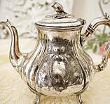 Посеребренный английский заварочный чайник, серебрение, мельхиор, GRAYSON & SON, Англия, фото 3