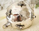 Посеребренный английский заварочный чайник, серебрение, мельхиор, GRAYSON & SON, Англия, фото 9