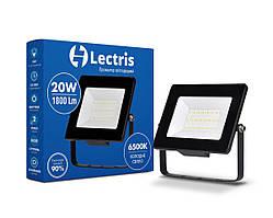 Світлодіодний прожектор Lectris 20W 1800Лм 6500K 185-265V IP65 1-LC-3002