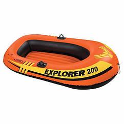 Двомісна Intex надувний човен 58356 (196x102x33 см) Explorer Pro 200
