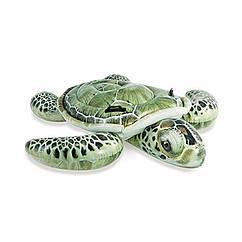 Детский надувной плотик Intex 57555 Морская Черепаха (191x170 см) Realistic Sea Turtle Ride-On