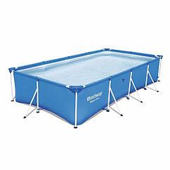 Прямоугольный каркасный бассейн Bestway 56405 Steel Pro Splash Frame Pool (400х211х81 см)
