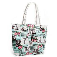 Качественная летняя женская сумка зеленая