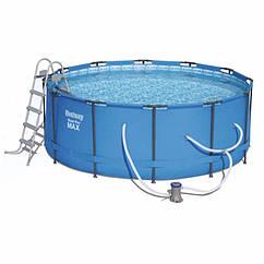 Круглий каркасний басейн 15427 (366 x 133 см) Steel Pro Max Frame Pool