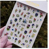 Наклейки для дизайна ногтей ногтей цветы, растения са №216 1шт