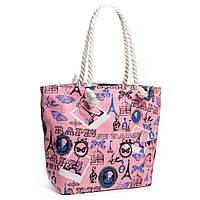Яркая летняя женская сумка розовая
