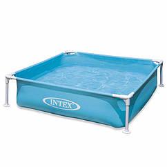 Дитячий каркасний басейн Intex 57171 (Блакитний) Mini Frame Pool (122х122х30 см)