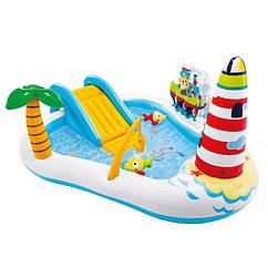 Водный надувной игровой центр Intex 57162 (218 x 188 x 99 см) Рыбалка