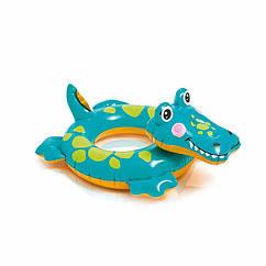 Дитячий надувний круг Intex 58221 Big Animal Rings (Крокодил)