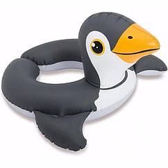 Дитячий надувний круг Intex 59220 Animal Split Rings (Пінгвін)