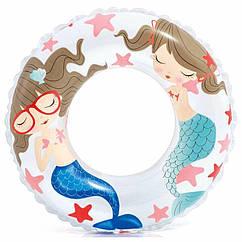 Дитячий надувний круг Intex 59242 (Білий) Ocean Reef Transparent Rings (61 см)