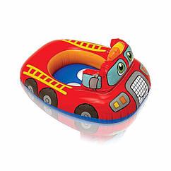 Дитячий надувний круг-плотик Intex 59586 Kiddie Floats (Пожежна машина)