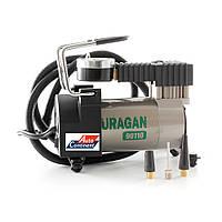 Автомобильный компрессор URAGAN 90110, автокомпрессор с манометром
