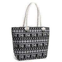 Популярная женская пляжная сумка черная