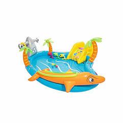 Водный надувной игровой центр-бассейн Bestway 53067 (280 x 257 x 87 см) Морские жители