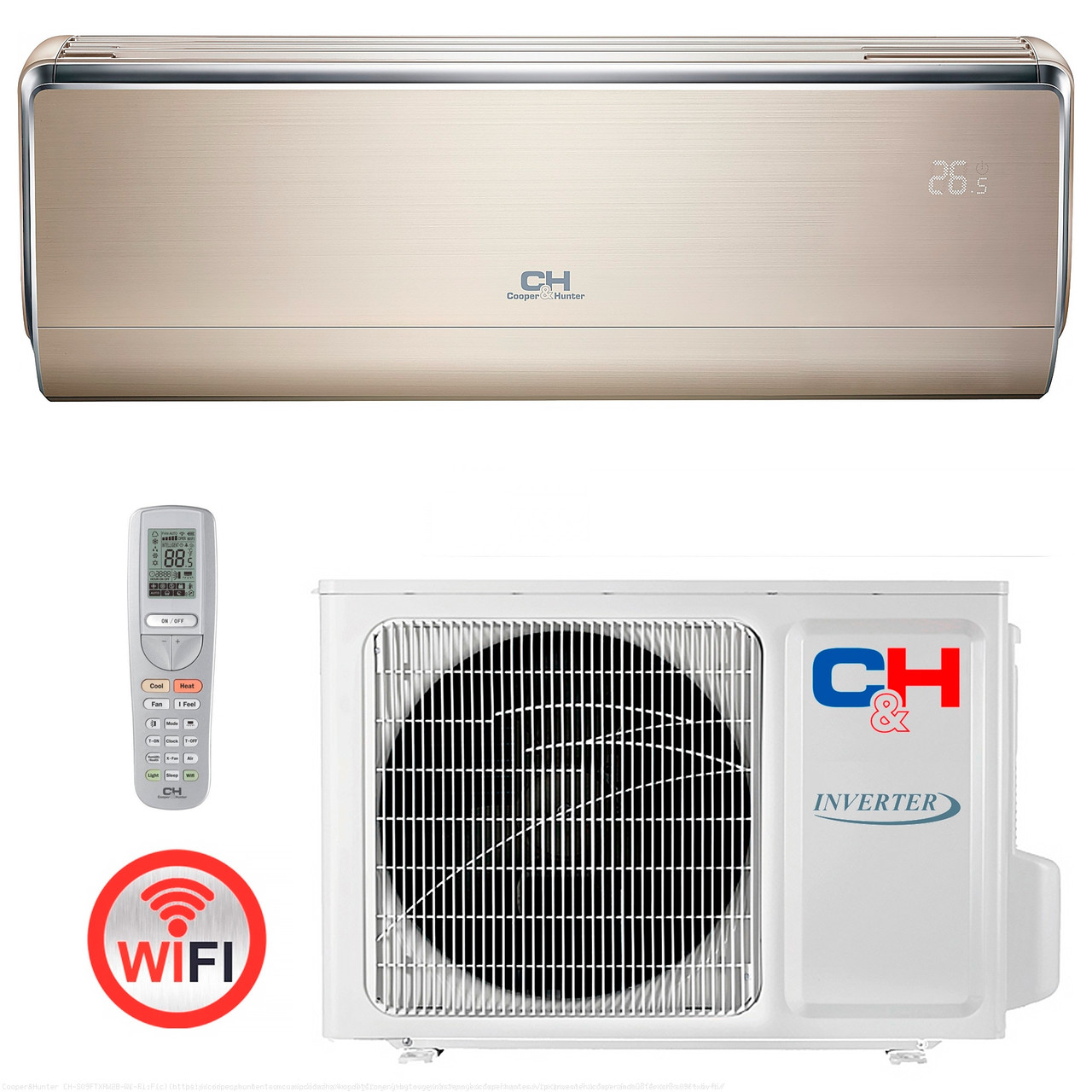 Кондиционер тепловой насос Cooper&Hunter CH-S12FTXHV-B Wi-Fi