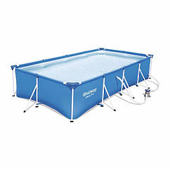 Прямоугольный каркасный бассейн Bestway 56424 (400 х 211 х 81 см) Steel Pro
