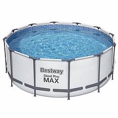 Круглий каркасний басейн 56420 (366х122 см) Steel Pro