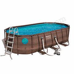Овальный каркасный бассейн Bestway 56716 (549-274-122 см) Power Steel™ Swim Vista Series™