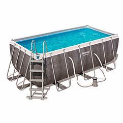 Прямоугольный каркасный бассейн Bestway 56722 (412 x 201 x 122 см) Power Steel™