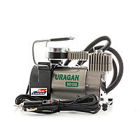 Автомобильный компрессор URAGAN 90130, автокомпрессор с манометром