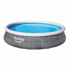 Надувной бассейн Bestway 57376 (396 x 84 см) Fast Set™