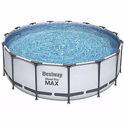 Круглий каркасний басейн 56438 (457x122 см) Steel Pro Frame Pool