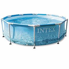 Круглий каркасний басейн Intex 28206 (305 x 76 см) Metal Frame