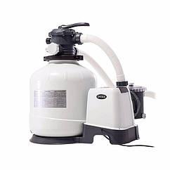 Пісочний фільтруючий насос Intex 26652 (12000 л/годину, 55 кг) Krystal Clear