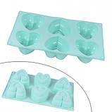 Форма силиконовая для кексов, пирожных, льда, конфет, Сердце, фото 2