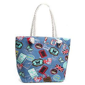 Сумка Женская Пляжная текстиль PODIUM 5014-2 blue