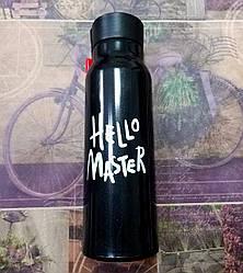 Бутылка для воды Hello master 360мл. 806 Черный