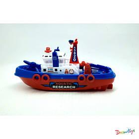 Катер спасательный, 23*12*9см, водяная пушка, звук мотора, бат., на листе 29*15,5*9см  (96шт)