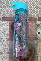 Бутылка для воды 807 500мл. Единорог/Кошечка