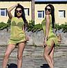 Женское пляжное платье-сетка салатового цвета
