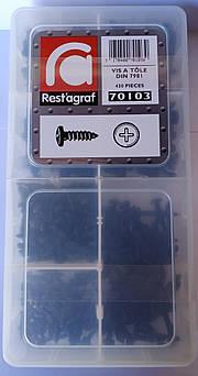 """Набір саморізів по металу DIN 7981 Сферична головка """"Чорний"""" (70103)"""