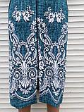 Трикотажний халат 54 розмір Бірюзовий меланж, фото 9