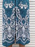 Трикотажний халат 54 розмір Бірюзовий меланж, фото 10