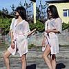 Женский пляжный халат с кружевными рукавами