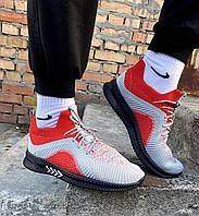 Модні чоловічі кросівки з текстилю на низькій підошві гумовій на літо для повсякденного носіння