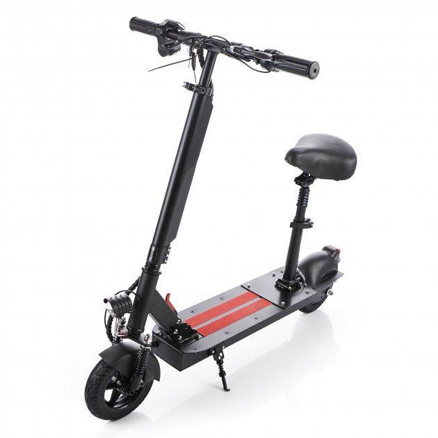 Электросамокат для взрослых с сиденьем аккумуляторный KONAR KES-A08 мощный складной
