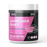 Протеин (белковый коктейль) для похудения с клетчаткой и пребиотиками Amino Milk Shake 500 г. Garo Nutrition