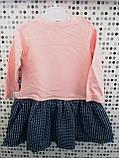 Нежное трикотажное платье для девочки Размер 9-12 и 18-24 месяцев, фото 3