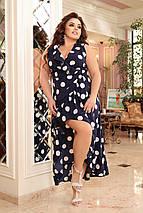 Плаття на запах з легкого софта в романтичному стилі тканина відмінно пропускає повітря, фото 2