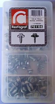 Набір комплектів саморізів по металу DIN 7981 і DIN 7976 з шайбами (70106)