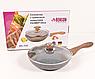 Сковорода Benson BN-542 (24 см) с крышкой, антипригарное гранитное покрытие   сковородка Бенсон, Бэнсон, фото 3