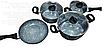 Набор посуды Benson BN-577 с гранитным антипригарным покрытием (7 пр.)   казан, кастрюля с крышкой, сковорода, фото 3